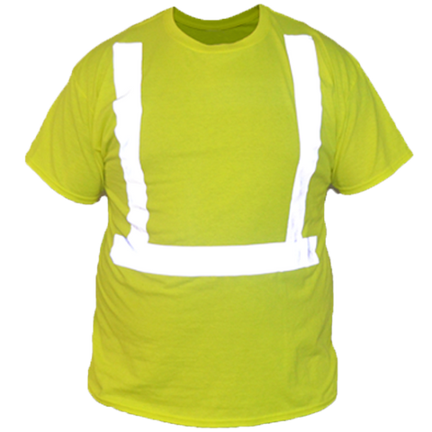 ANSI Short Sleeve Reflective Shirt - Front - Safety Yellow
