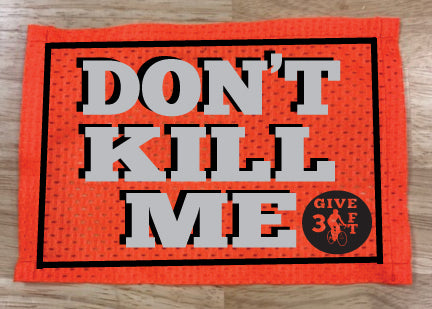 Hi Vis Reflective Bib - Don't Kill Me with Give 3 Ft logo - Orange