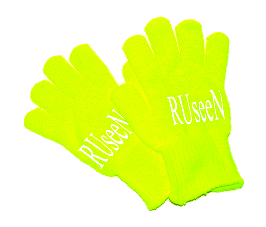 Reflective Poly Knit Glove - Lime Yellow
