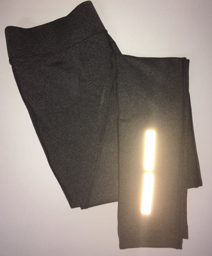 One of a Kind Womens Reflective Tights - Gray - Small