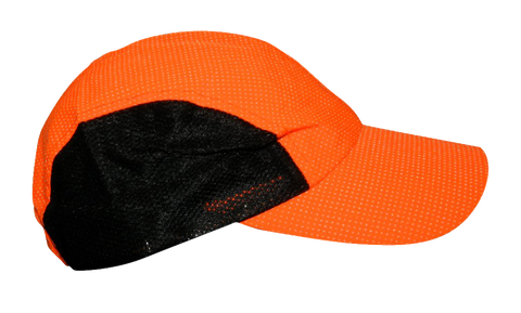 Reflective 4-panel Adjustable Hat- Orange Dots