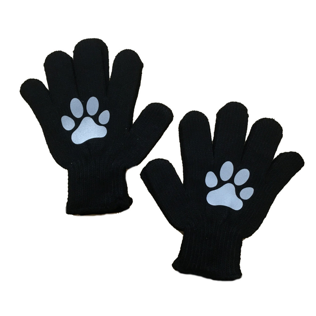 Kids Reflective Knit Gloves - Paws
