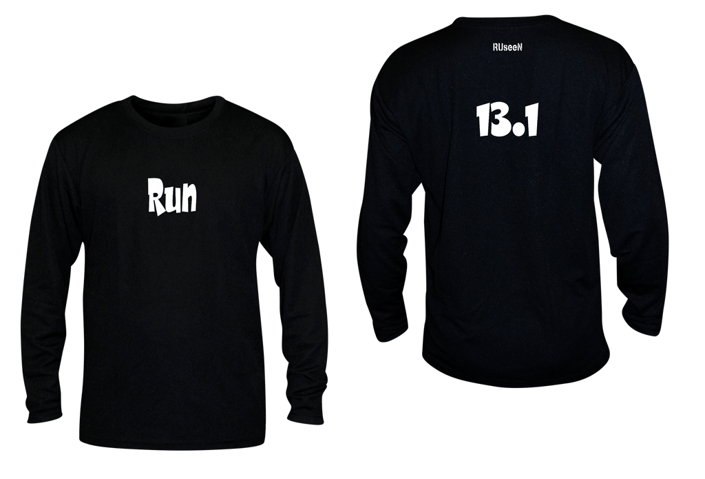 Unisex Reflective Long Sleeve Shirt - Run 13.1 - Overstocks