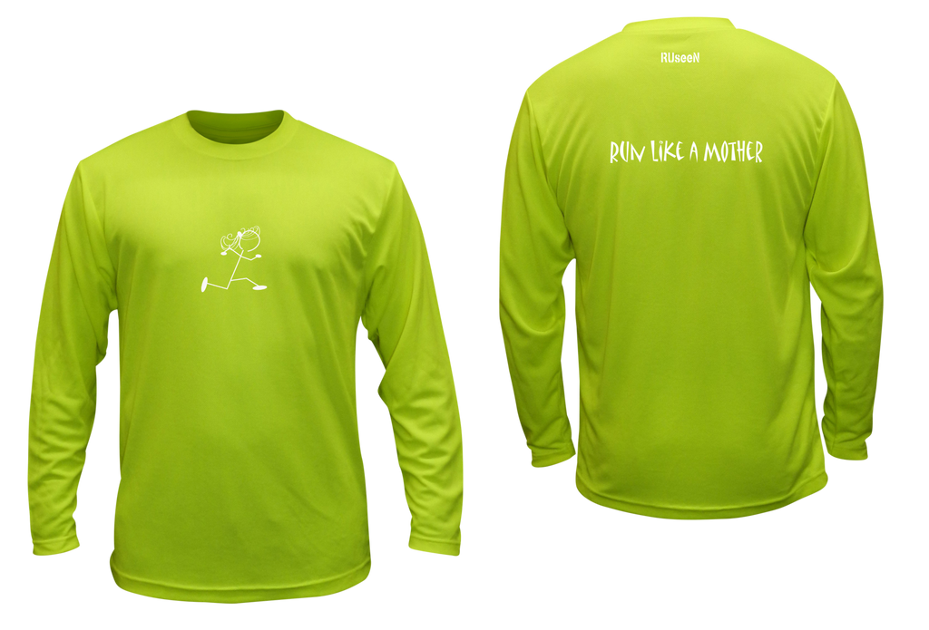 Unisex Reflective Long Sleeve Shirts - Run Like a Mother