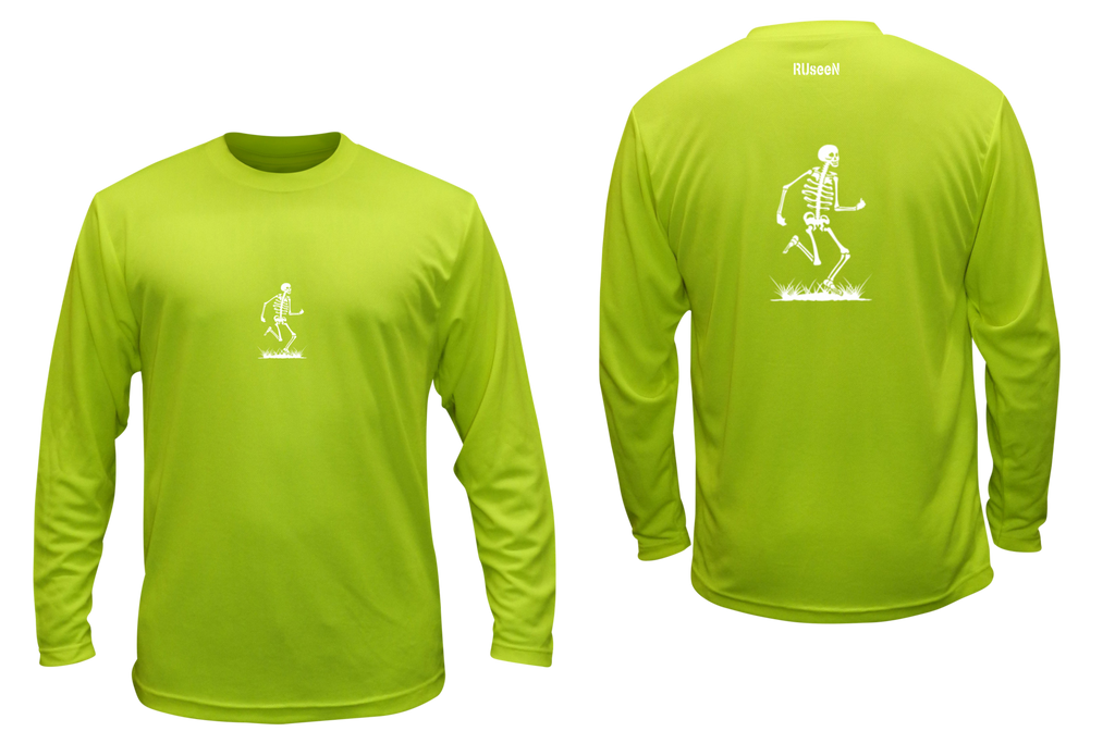 Unisex Reflective Long Sleeve - Skeleton - Overstocks