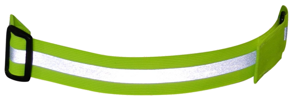 Reflective Elastic Adjustable Belt - Lime Yellow