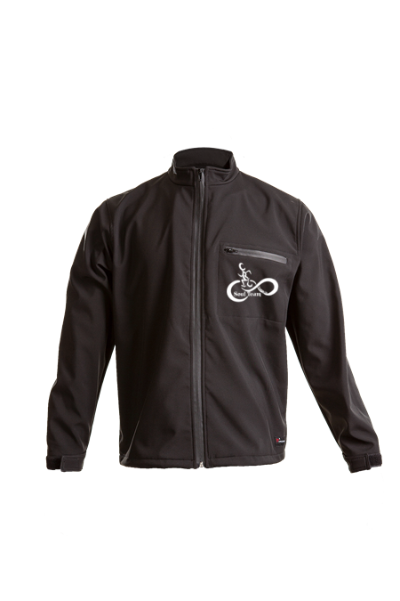 Men's Reflective Black Shell Jacket - Soul Team