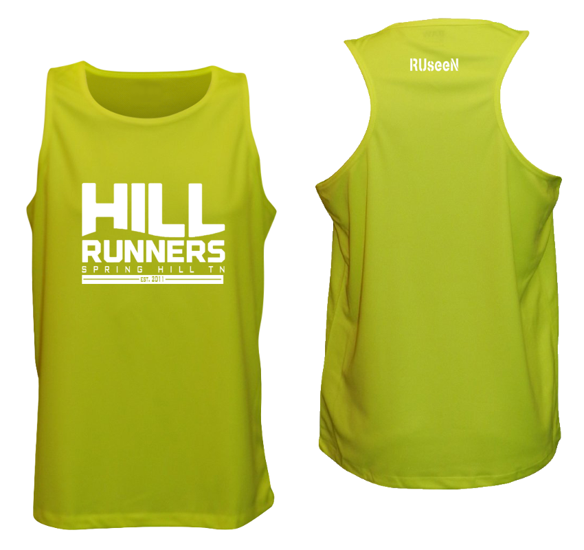 Men's Reflective Tank Top - Hill Runners TN