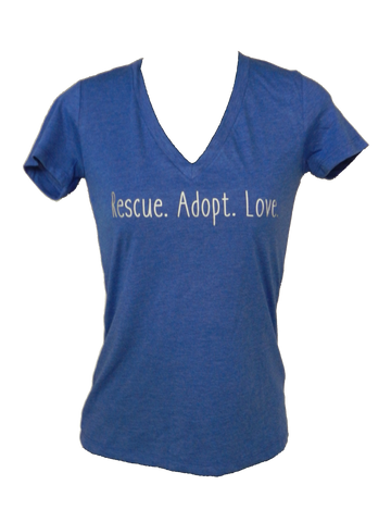 Women's Reflective Short Sleeve - Rescue. Adopt. Love.
