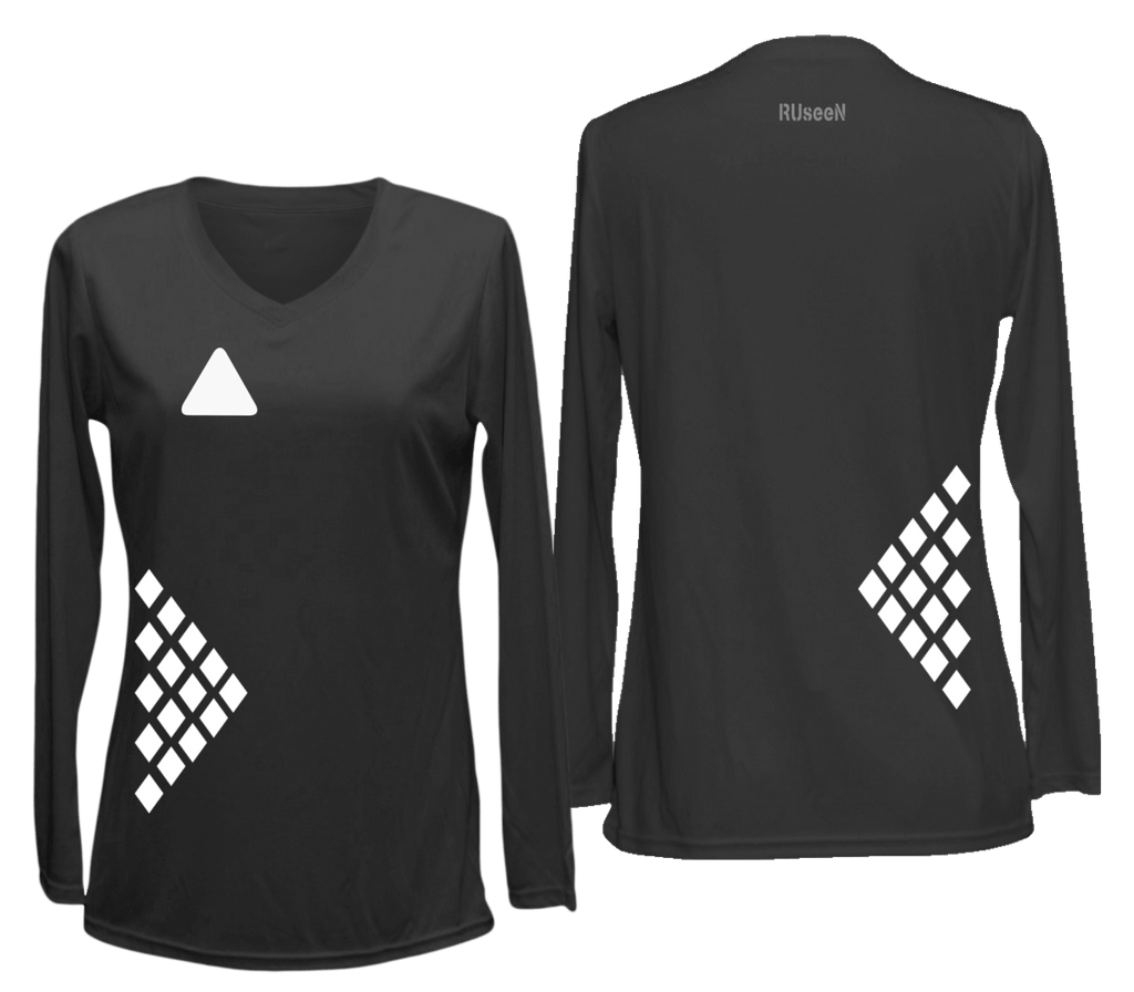 Women's Reflective Long Sleeve Shirt - Diamond Pattern