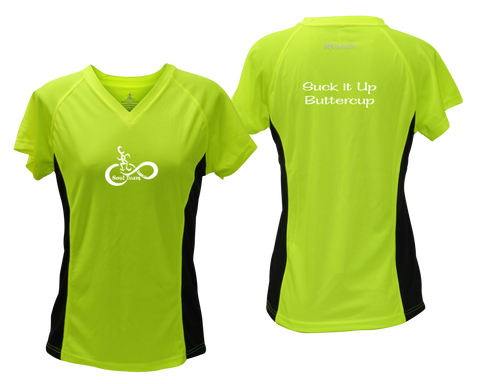 Women's Reflective Short Sleeve Shirt - Soul Team - Buttercup