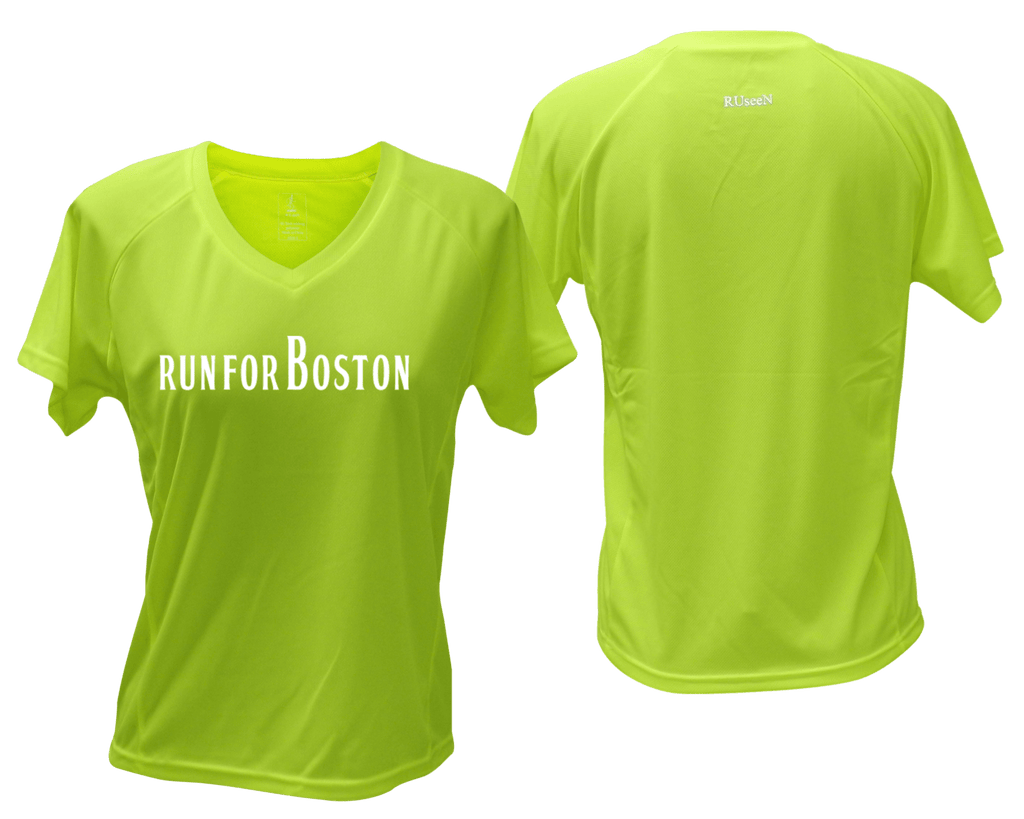 Women's Reflective Short Sleeve Shirt – Run for Boston