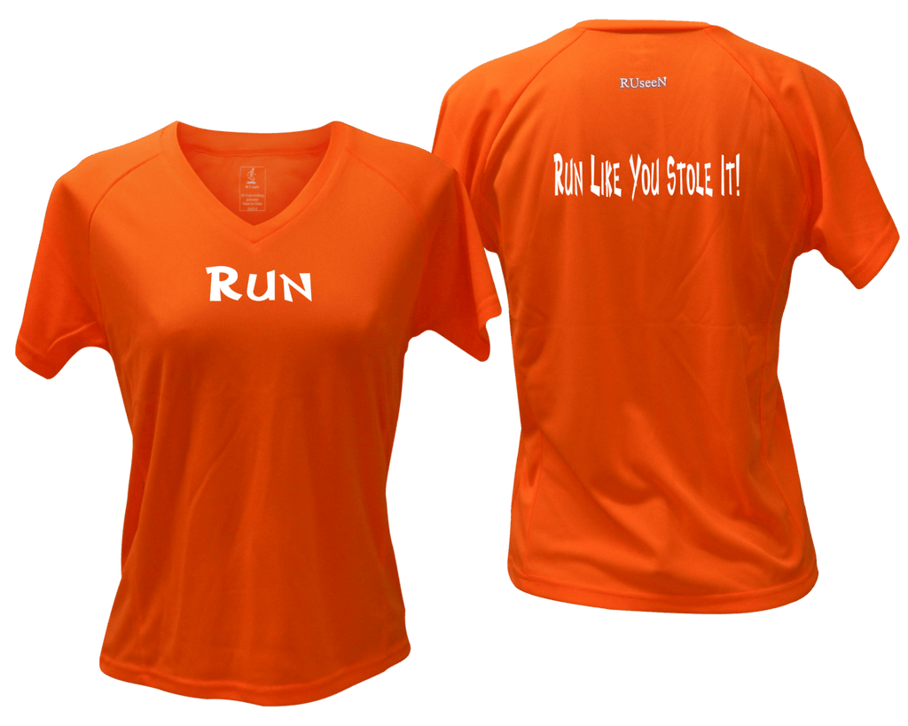 Women's Reflective Short Sleeve Shirt – Run Like You Stole It