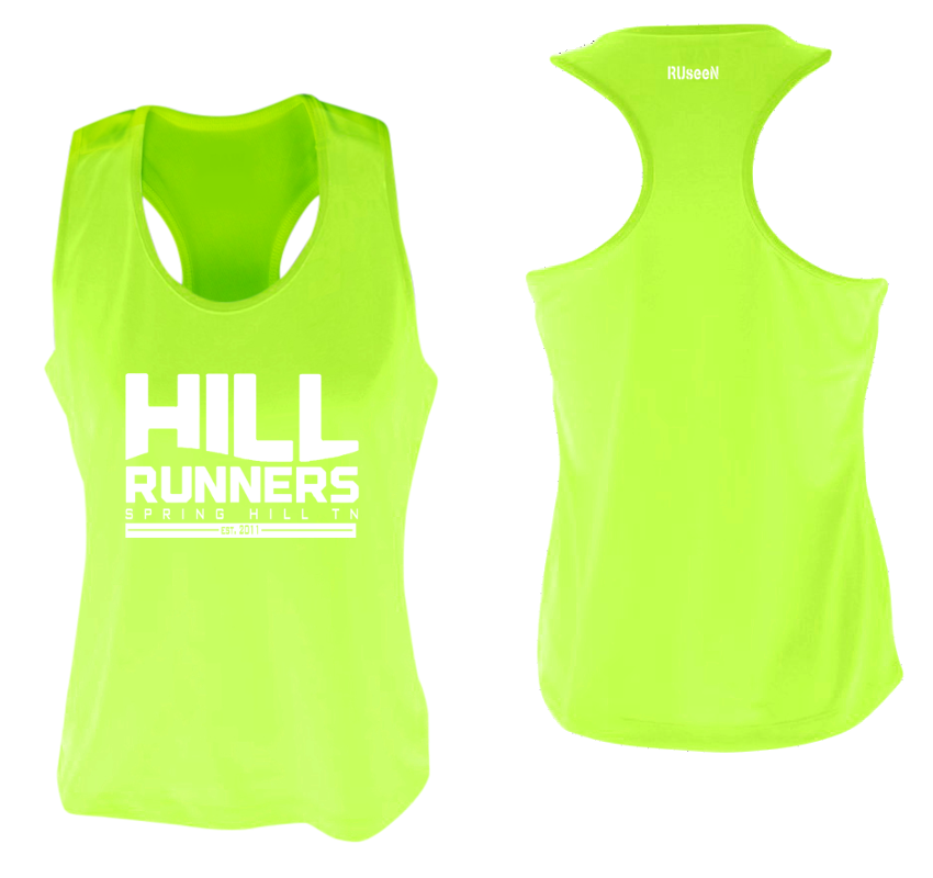 Women's Reflective Tank Top - Hill Runners TN