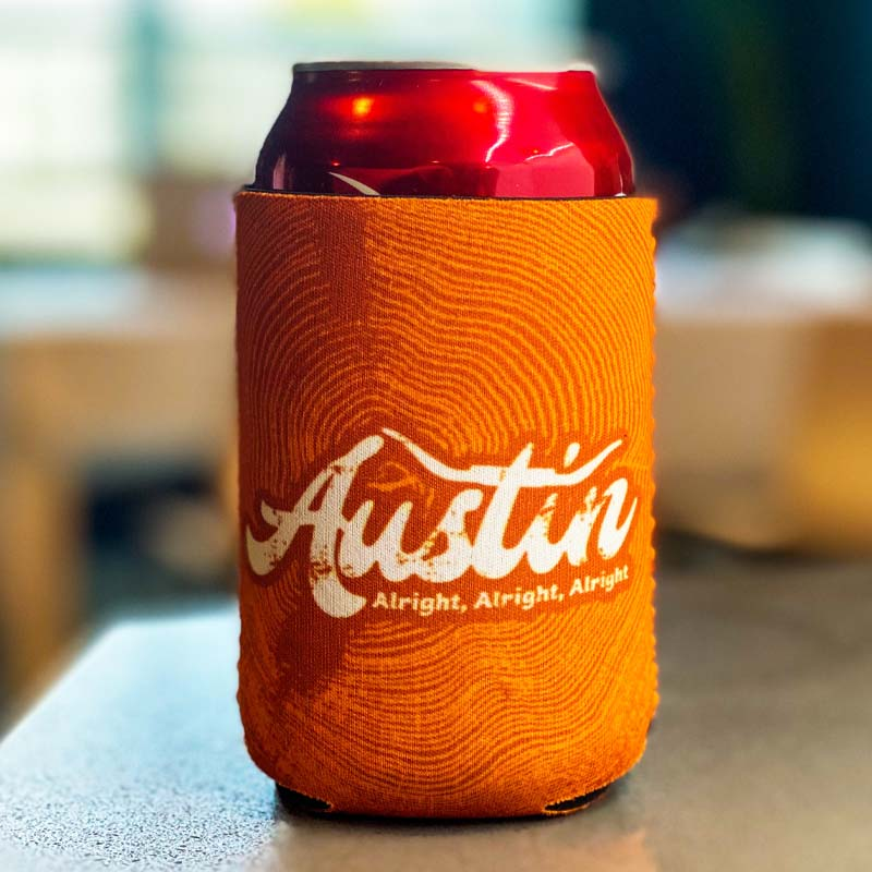 Koozies, can cooler, beverage holder, collapsible can cooler, Texas koozies, Texas Can Beverage Holder