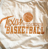 Texas Women's Basketball shirts printed by Gusto Graphic Tees