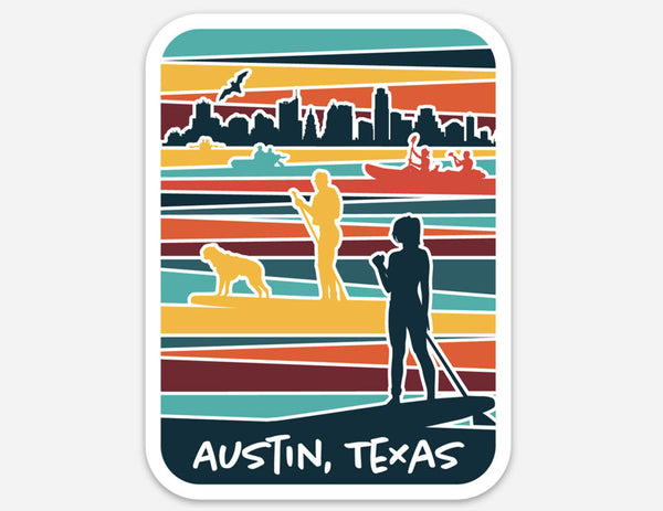 Lady Bird Lake Sticker, Austin, Texas sticker by Gusto Graphic Tees