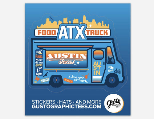 Austin Food Truck Sticker, Texas sticker