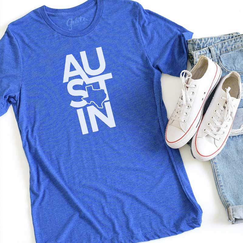 Austin Texas Graphic t shirt by gusto graphic tees