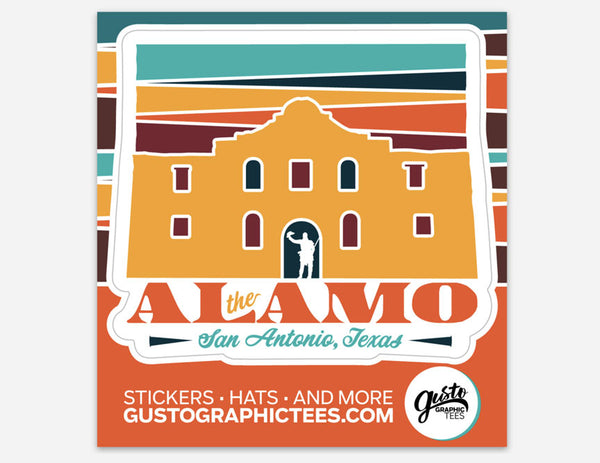 The Alamo Kiss Cut Sticker San Antonio Texas Sticker
