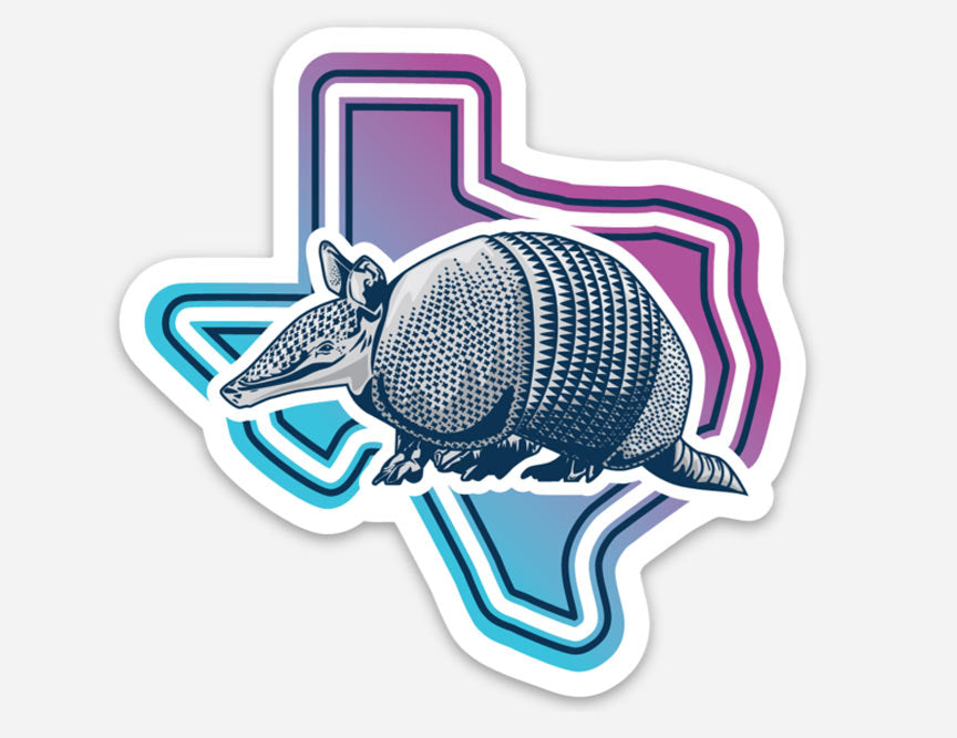 Armadillo Texas Sticker