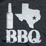 i love texas bbq t shirt by Gusto Graphic Tees dark gray