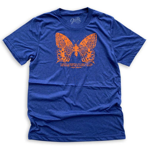 Butterfly fly Austin Texas, Willie Nelson T-shirt by Gusto Graphic Tees