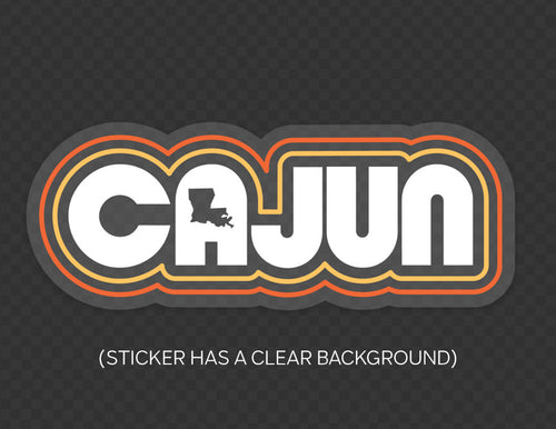 Retro Cajun sticker by Gusto Graphic Tees