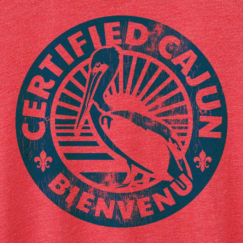 Certified Cajun Crew Neck T-Shirt - Short Sleeve T-Shirt
