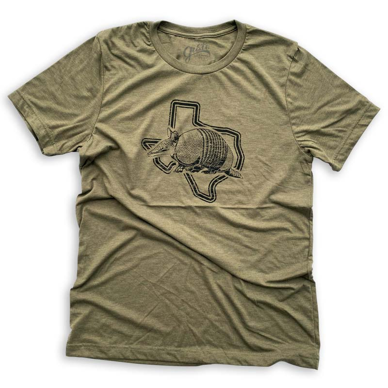 Armadillo Texas t shirt by Gusto Graphic Tees, armadillo texas tee, dillo t shirt, dillo tee, armadillo graphic tee, austin texas t shirt, texas graphic tee, texas graphic t shirt, texas tee, austin t shirt, texas t shirt, graphic tee, graphic t shirt, cool graphic t shirt, cool t shirt, cool graphic tee
