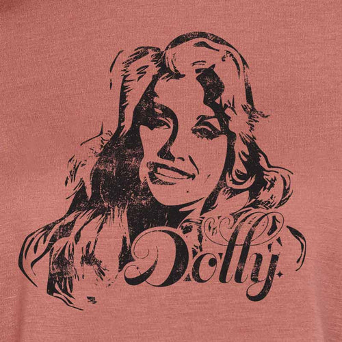 Dolly Parton Flowy Crop Top, mauve T-shirt