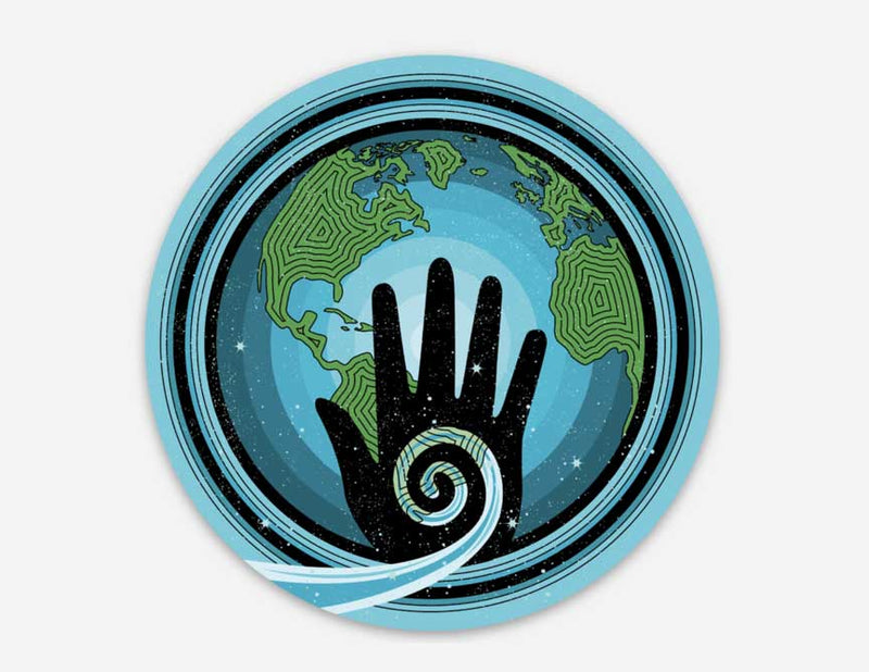 healing hands sticker, vinyl sticker, healers, healing sticker, world sticker, world, healing hand, healer, earth sticker, vinyl sticker