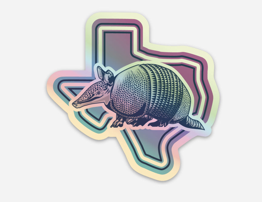 Holographic Armadillo Sticker