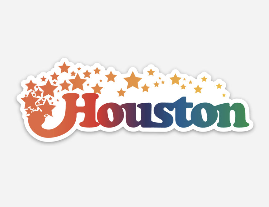 Houston Texas Stars Sticker
