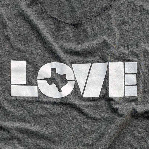 LOVE TX - Woman's tri-blend racerback tank by Gusto Graphic Tees