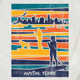 Lady Bird Lake artwork from Gusto Graphic Tees