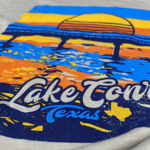 Lake Conroe t shirt, Lake Conroe, Texas, boating, fishing, 1097 bridge, April Sound, Walden, Del Lago, Texas t shirt, texas graphic tee, lake conroe graphic tee, lake conroe shirt