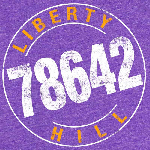 Liberty Hill, Texas, Liberty Hill Graphic T-shirt, Liberty Hill tee, 78642, Liberty Hill, Liberty Hill Graphic T-shirt, purple tshirt