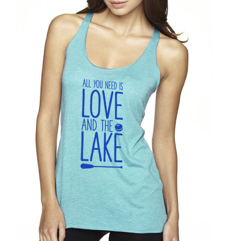 Love and Lake Graphic Women's Racerback Tank