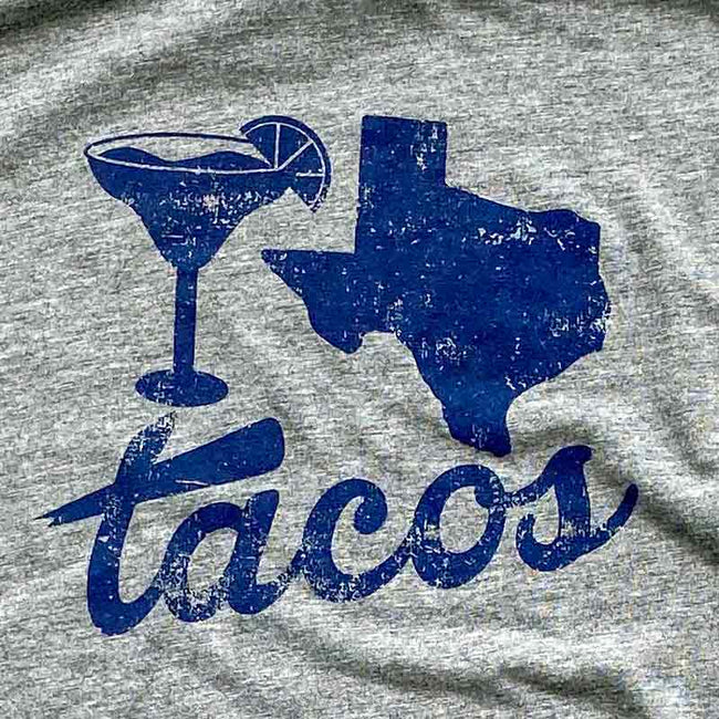 margaritas, texas and tacos t shirt Gusto Graphic Tees, texas t-shirt