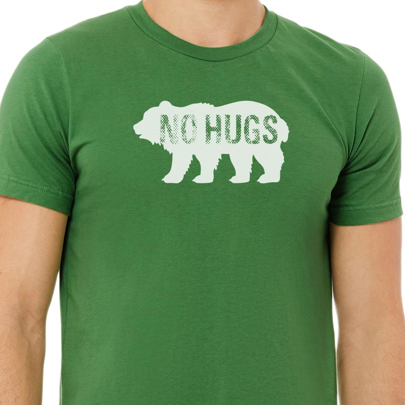 No Hugs Green Graphic T-shirt