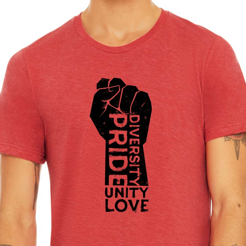 Pride, Diversity, Unity and Love Graphic T-shirt