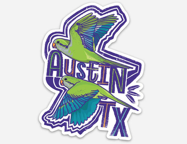 Quaker Parrots ATX Sticker by Gusto Graphic Tees