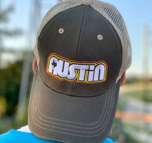 Retro Austin Trucker Cap by Gusto Graphic Tees - Texas cap