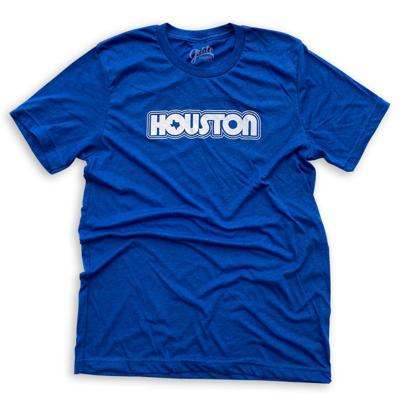 retro houston t-shrit by gusto graphic tees  Edit alt text