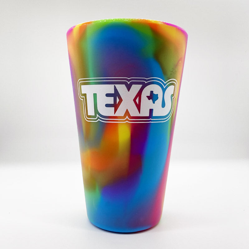 retro texas cup, texas cup, silicup, silicone, pint glass, texas pint glass, texas cup, texas glass