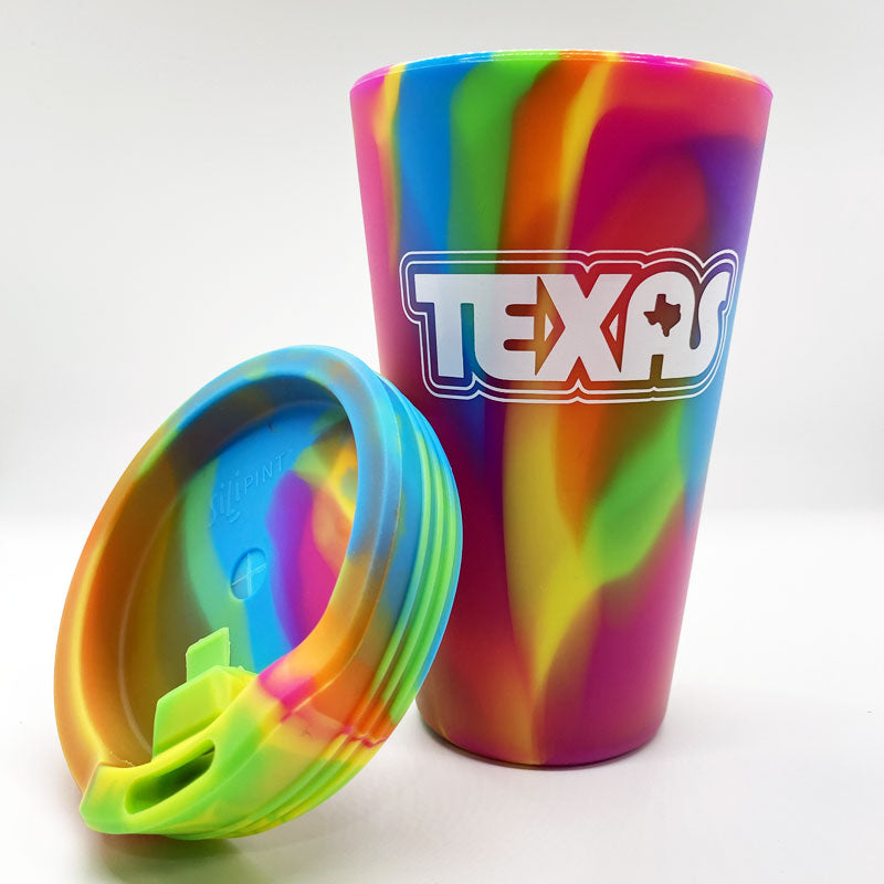 Retro TX 16oz Silipint Hippie with Lid