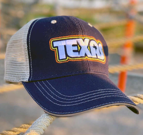 Retro Texas Trucker Cap by Gusto Graphic Tees, Texas Cap, Texas Hat