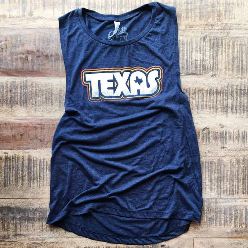 Retro Texas Muscle tank gusto graphic tees, vintage graphic tee, graphic t shirt, vintage muscle tank, muscle tank, graphic tank, texas graphic tee