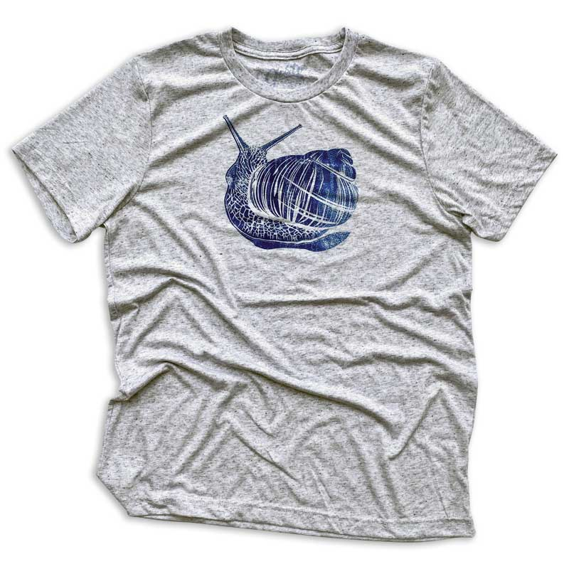 Slow living snail t-shirt by gusto graphic tees, quarentine t-shirt, graphic t shirt, graphic tee, cool graphic t shirt, cool t shirt, cool graphic tee, snail t-shirt